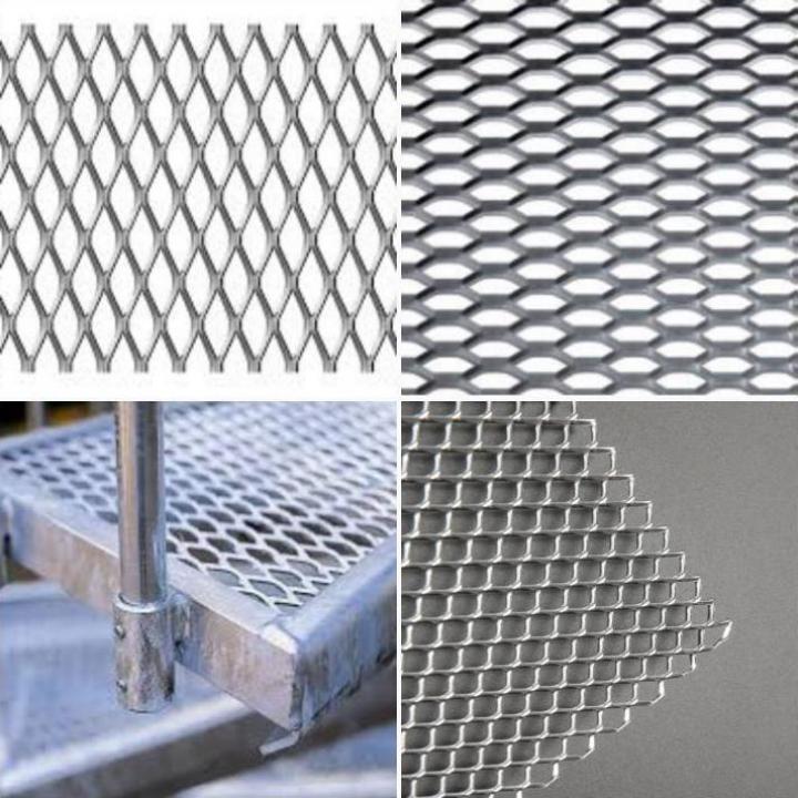 Tabla expandata din otel, otel zincat, aluminiu, inox, zinc