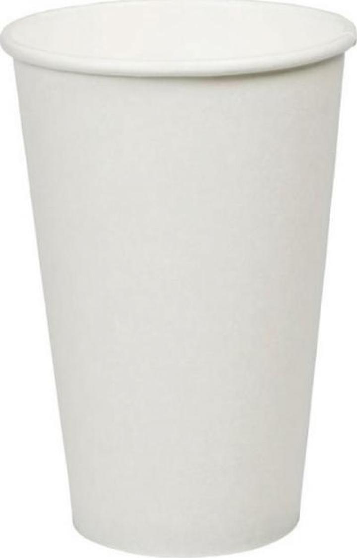 Pahar carton alb 16oz (473ml) 100 buc/set