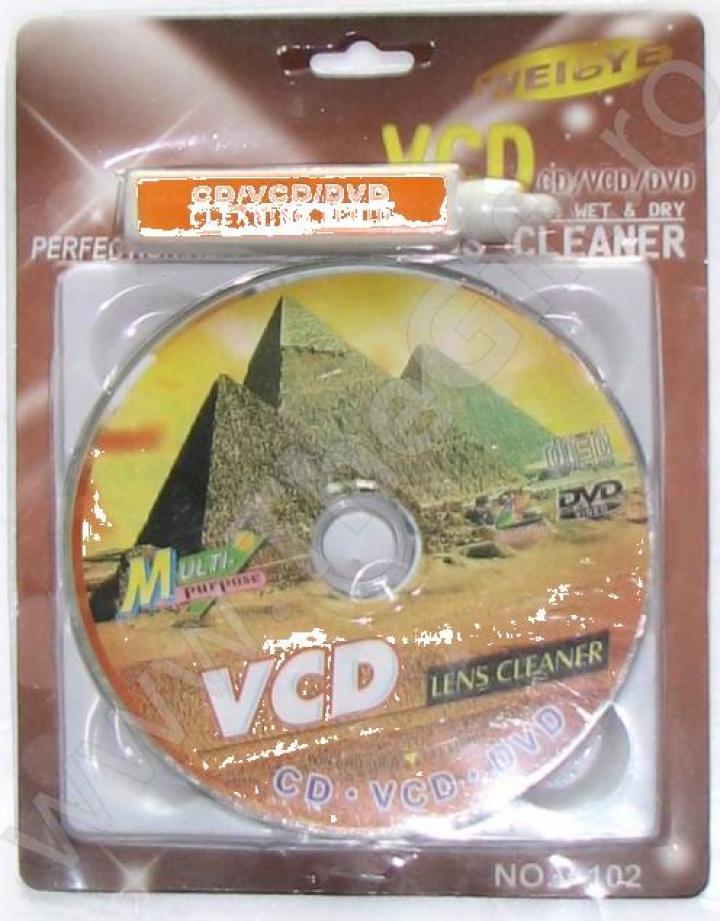 Pasta de curatare si disc pentru CD/VCD/DVD player