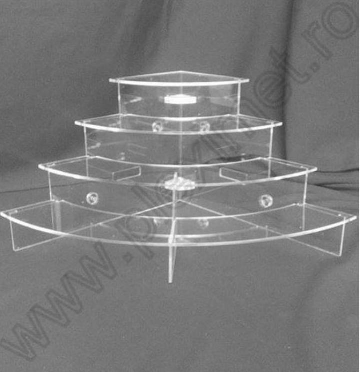 Stand de colt circular pentru prajituri/minitorturi SPEv21.1
