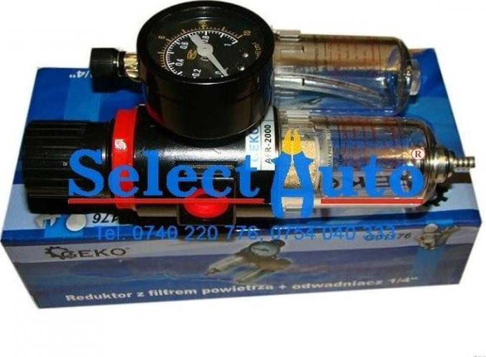 Mini filtru, regulator si lubrificator de aer 1/4