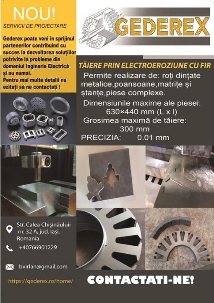 Debitari electroeroziune cu fir si plasma CNC
