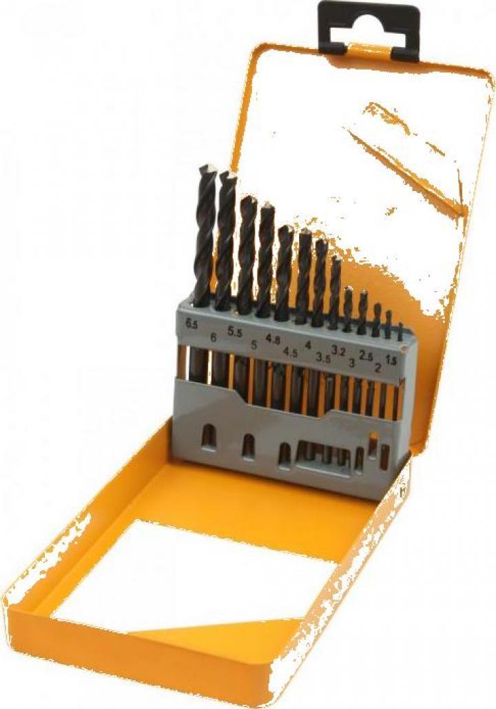 Set de 13 burghie HSS 1.5-6.5 mm