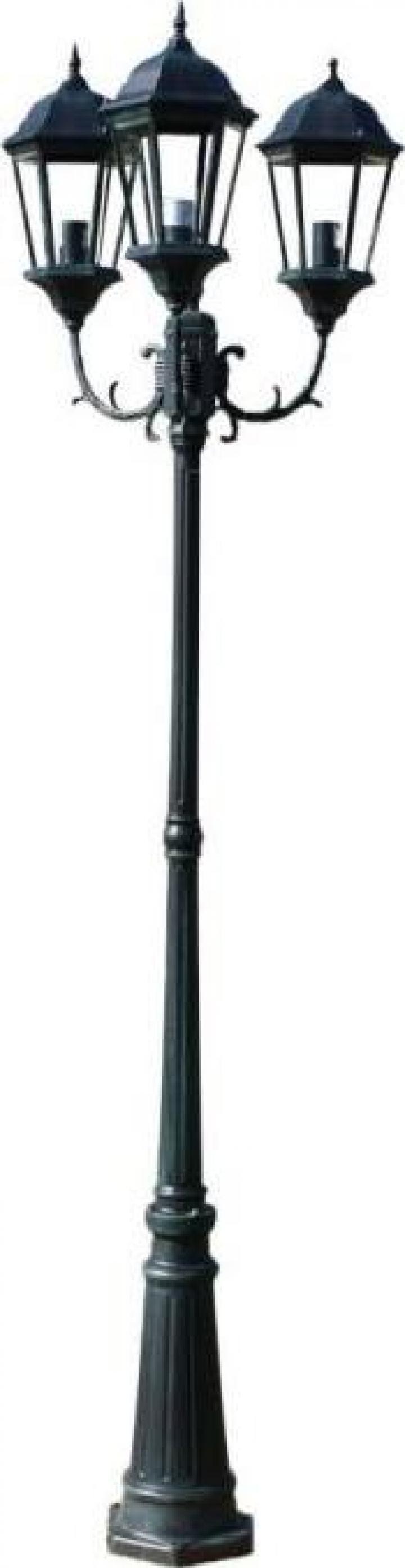 Felinar cu 3 brate 230 cm Brighton verde inchis/negru