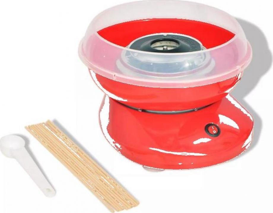 Masina vata de zahar 480 W rosie
