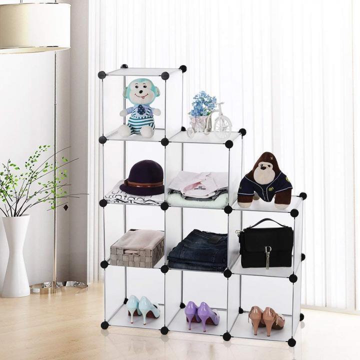 Etajera modulara pentru organizare - 9 cuburi
