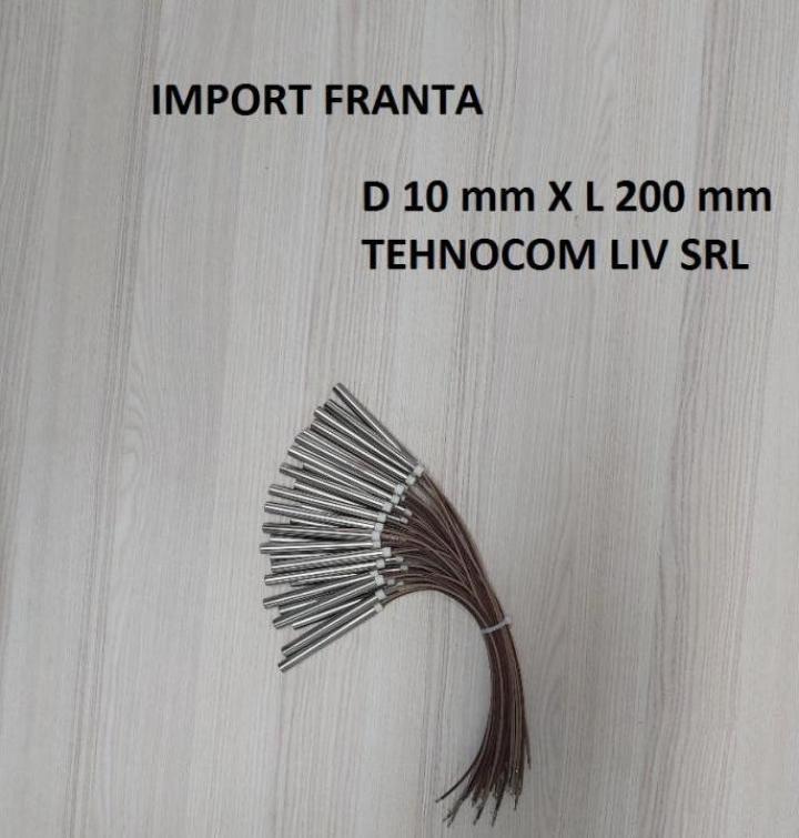 Rezistenta tubulara L 200 mm, P=500-1000 Wati