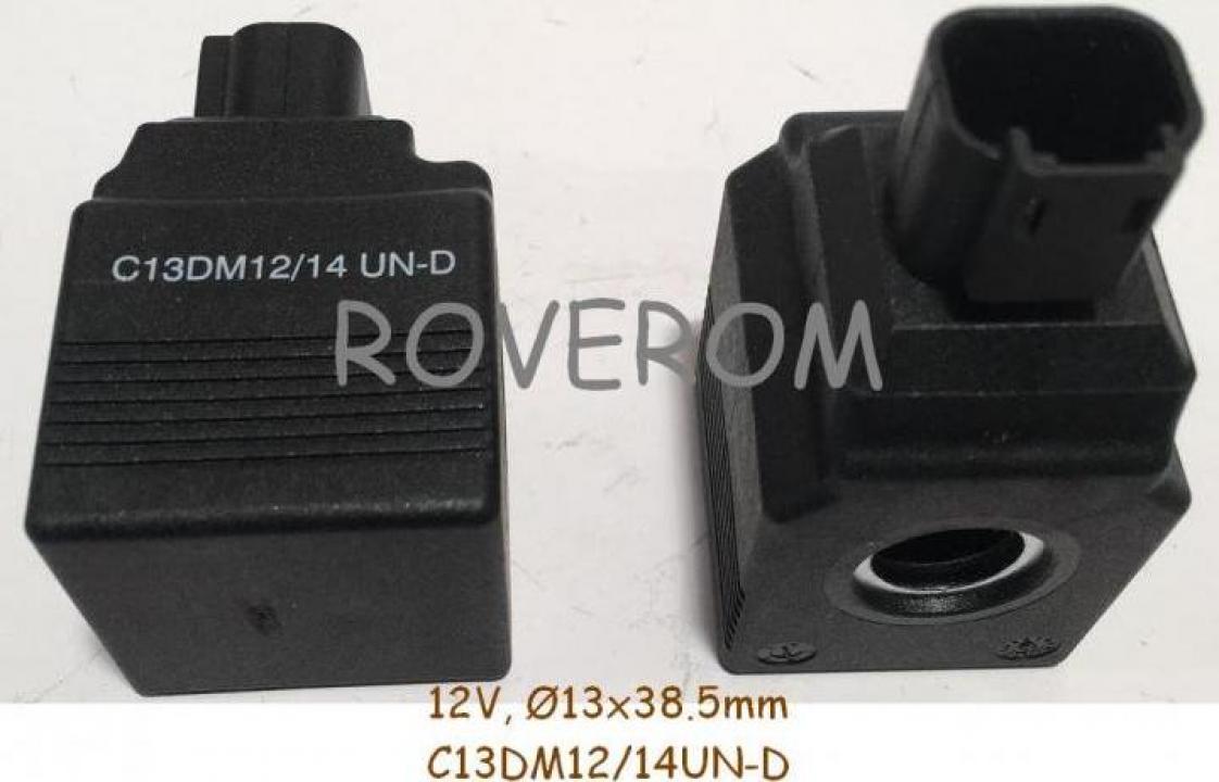 Bobina 12V, d13x38.5mm, JCB 8025ZTS, 8035ZTS, 8040ZTS, 8045Z