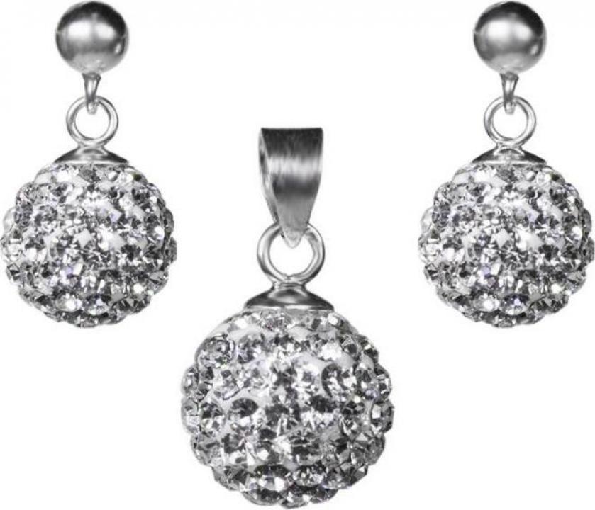 Set bijuterii argint 925 zirconii Shiny Globe