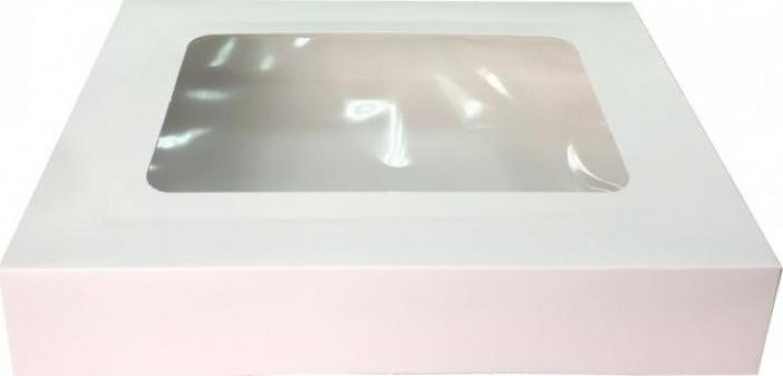 Cutie carton cu fereastra alba 20x23x9,2cm 25 buc/set