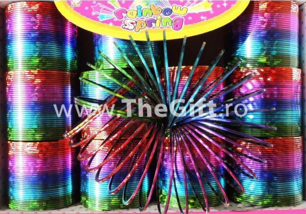 Jucarie Slinky mare, metalizata