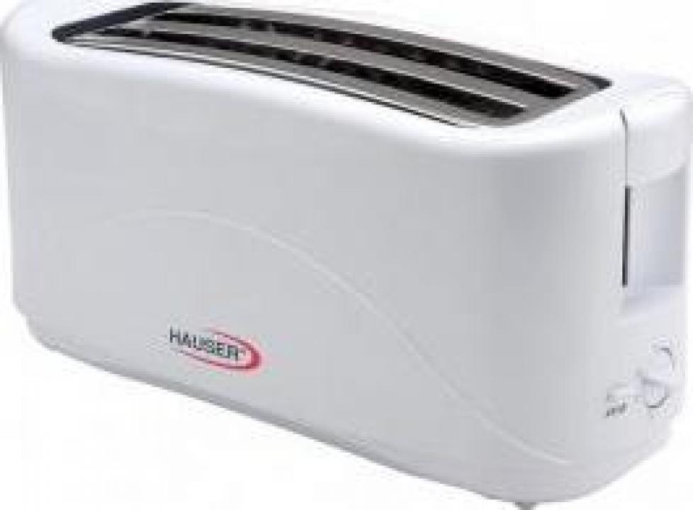 Prajitor de paine Hauser T-214W, putere 1300 W, 4 felii, alb