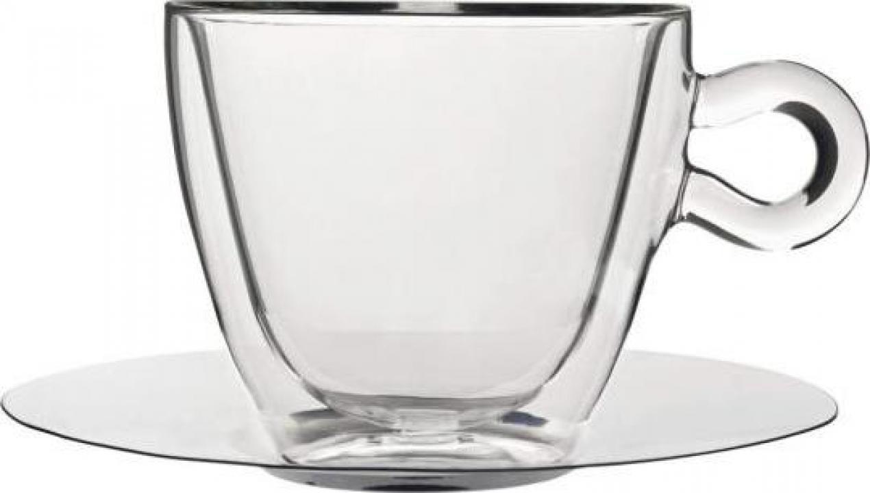 Set ceasca si farfurie Thermic Glass