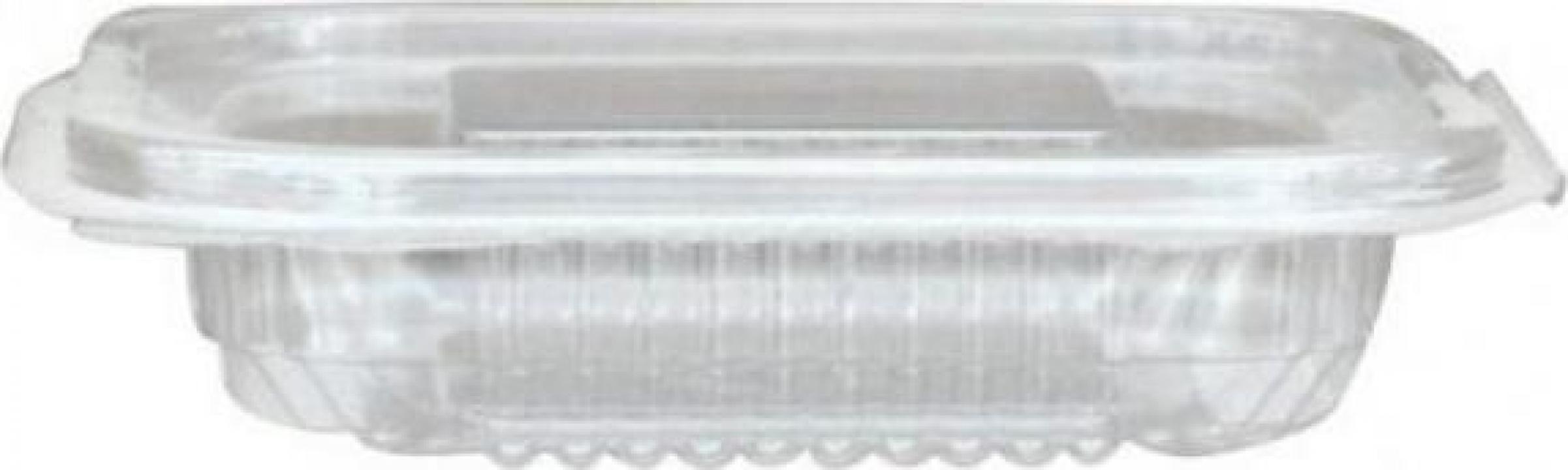 Caserola PET capac atasat 150cc 100 buc/set