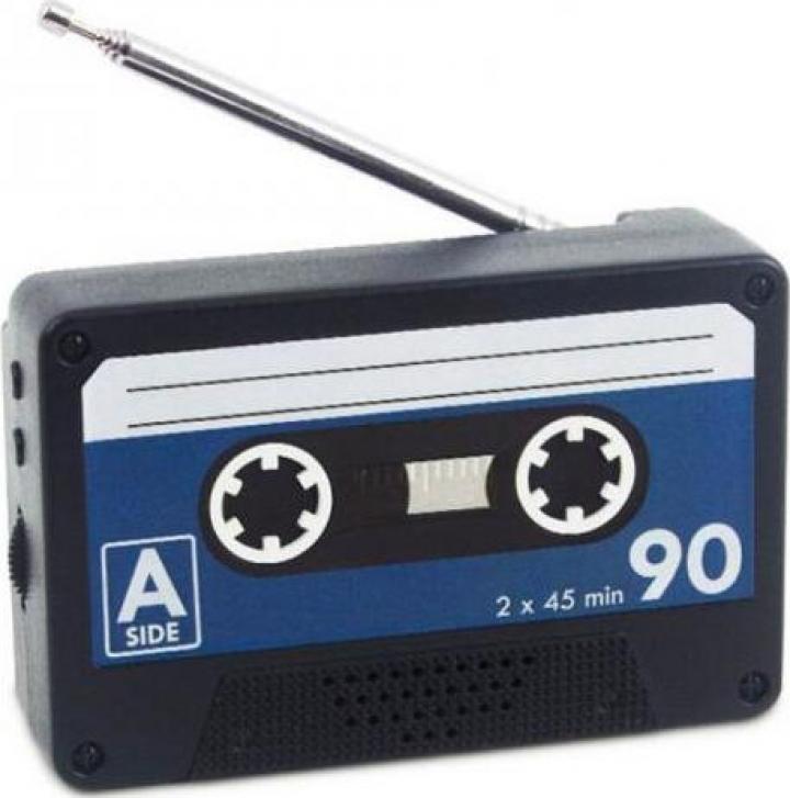 Radio FM portabil magnetic, caseta audio