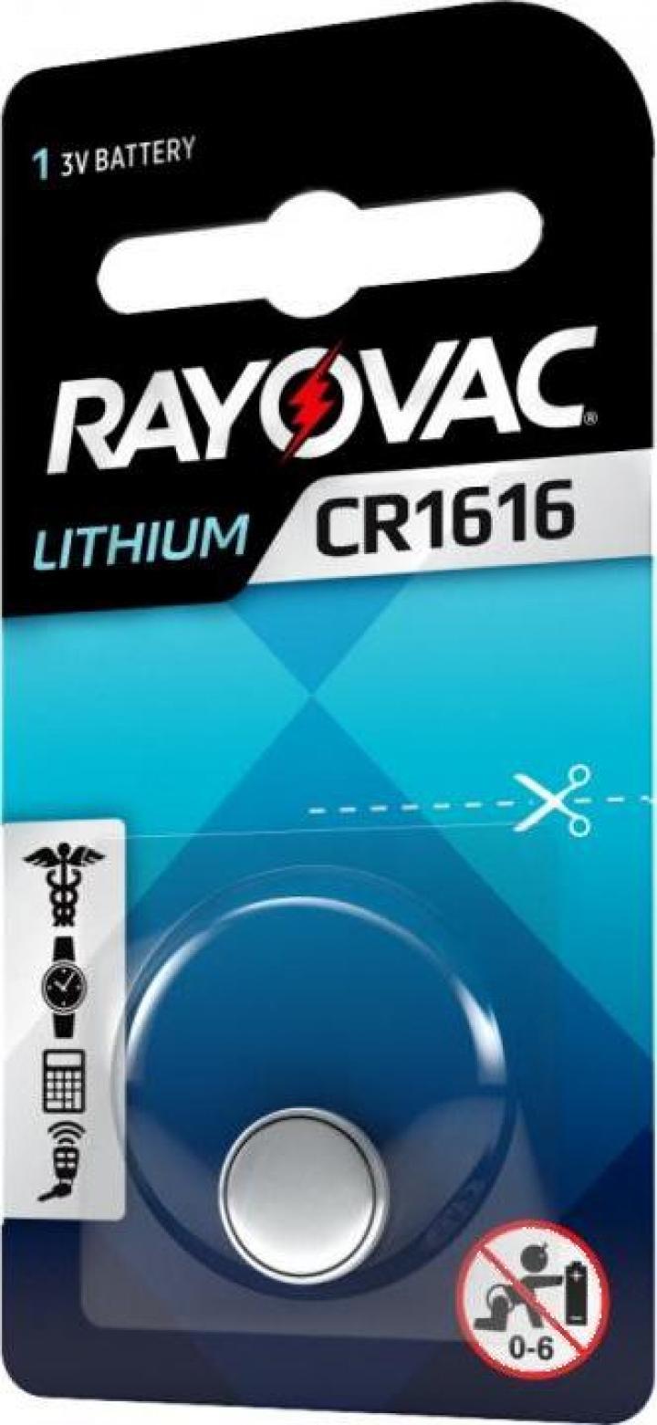 Baterie CR 1616 Litiu Rayovac 3V (CR1616)