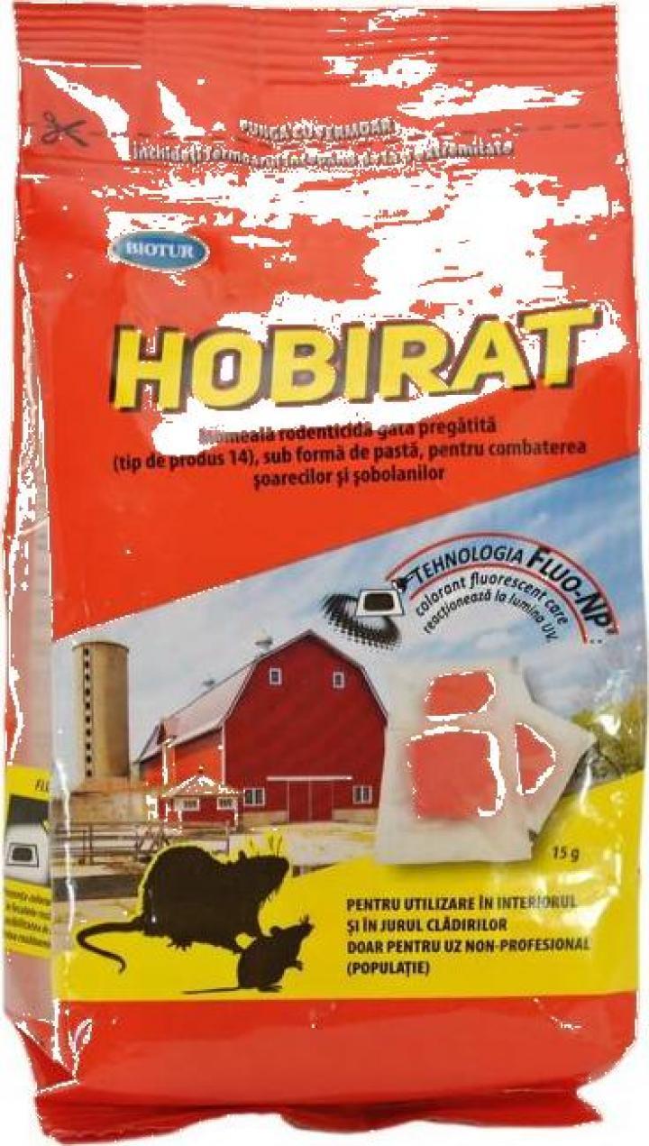 Raticid pasta fluorescenta Hobirat150g