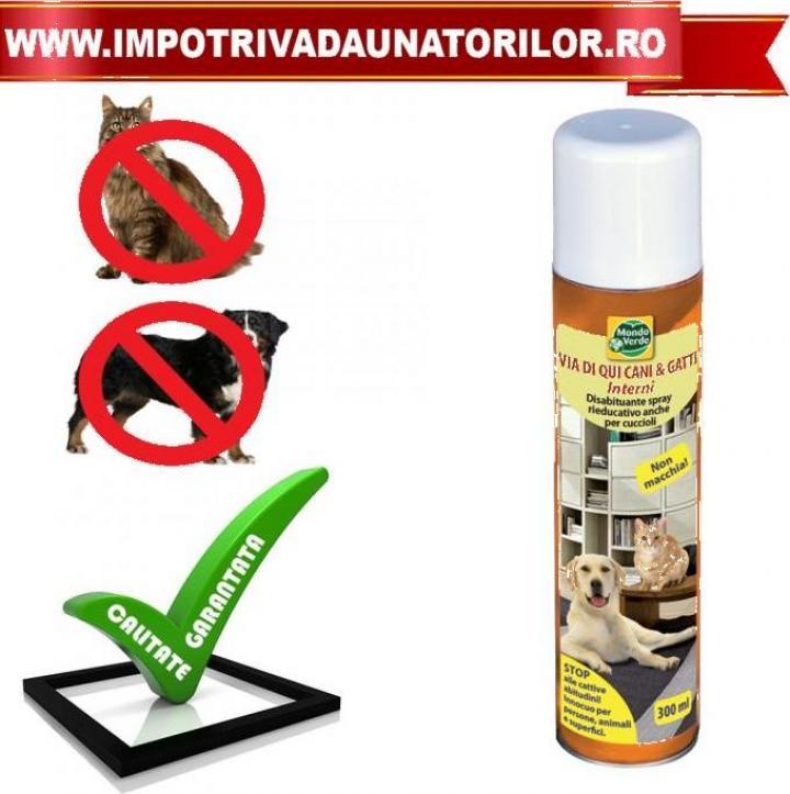 Solutie spray pentru interior anti caini si pisici REP33