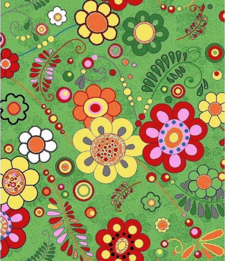 Mocheta copii florala verde