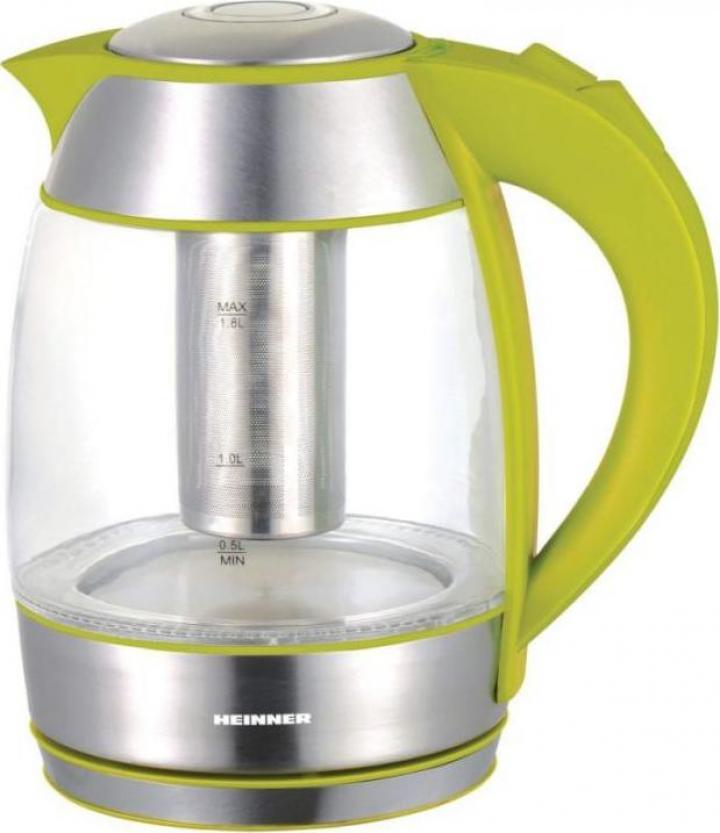Fierbator cu filtru ceai Heinner, 2200 W, 1.8 l, verde