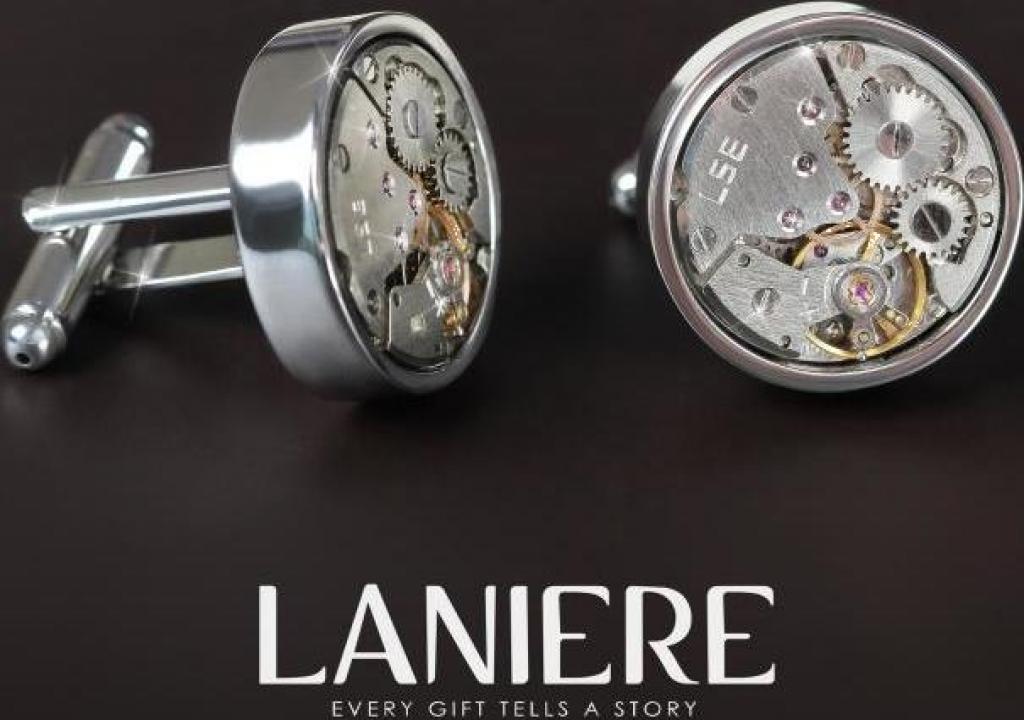 Butoni Skeleton cu mecanism de ceas - Laniere