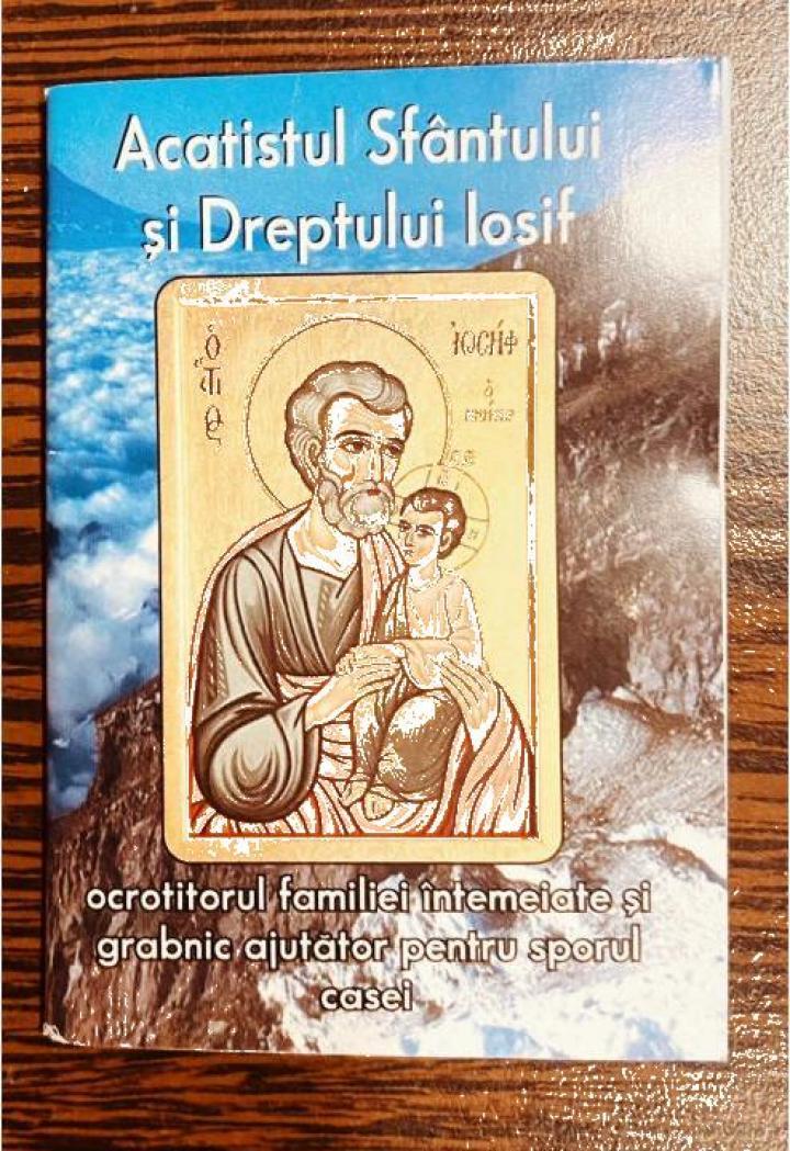 Carte, Acatistul Sfantului si Dreptului Iosif