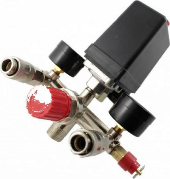 Presostat compresor aer + supape 20A 230V 3-12 bari B-AC013F