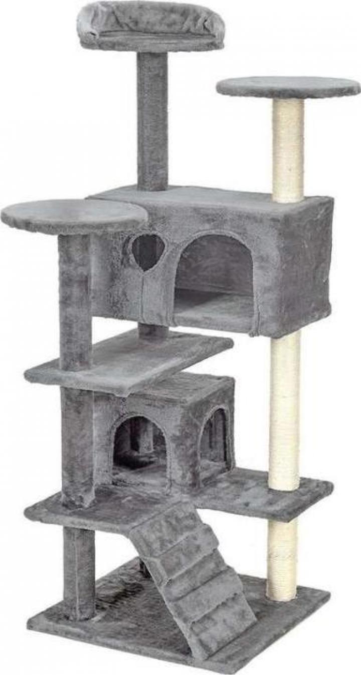 Ansamblu de joaca pentru pisici cu 7 etaje Funfit, gri