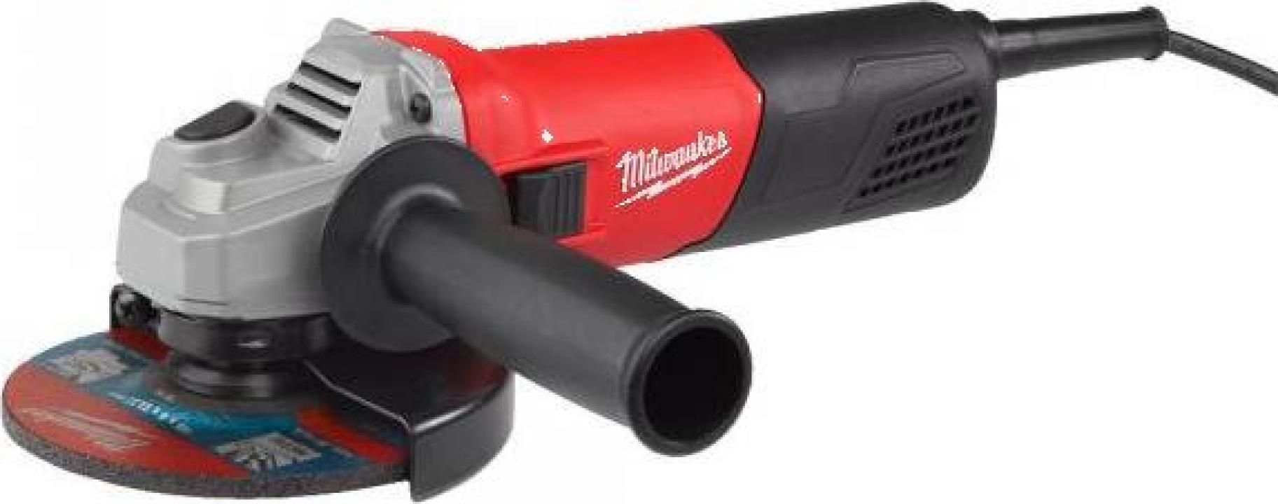 Polizor unghiular Milwaukee AG 800-125 E, 800 W, 125 mm