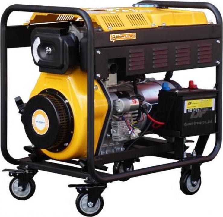 Generator open frame diesel trifazat Stager YDE6500E3, 5.5kW