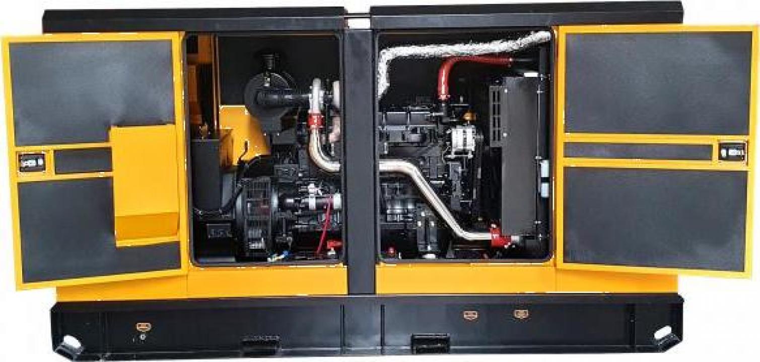 Generator insonorizat diesel trifazat Stager YDY138S3