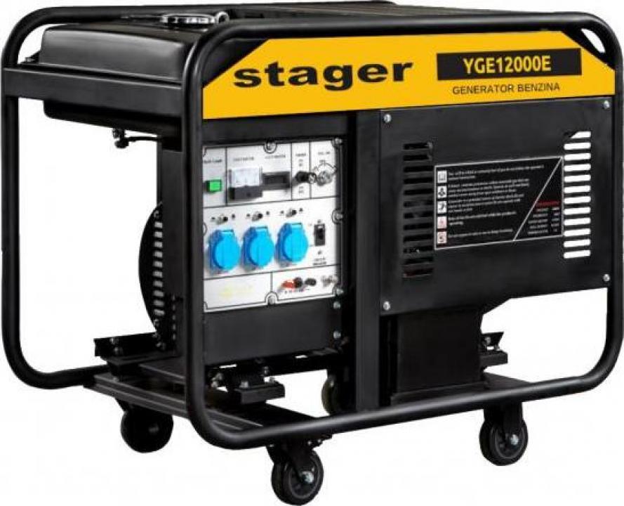 Generator monofazat, 10.0kW, benzina, Stager YGE12000E