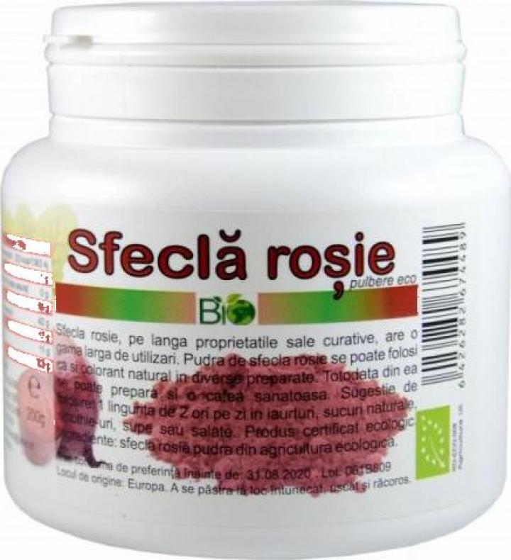 Pudra Sfecla rosie, bio 200g