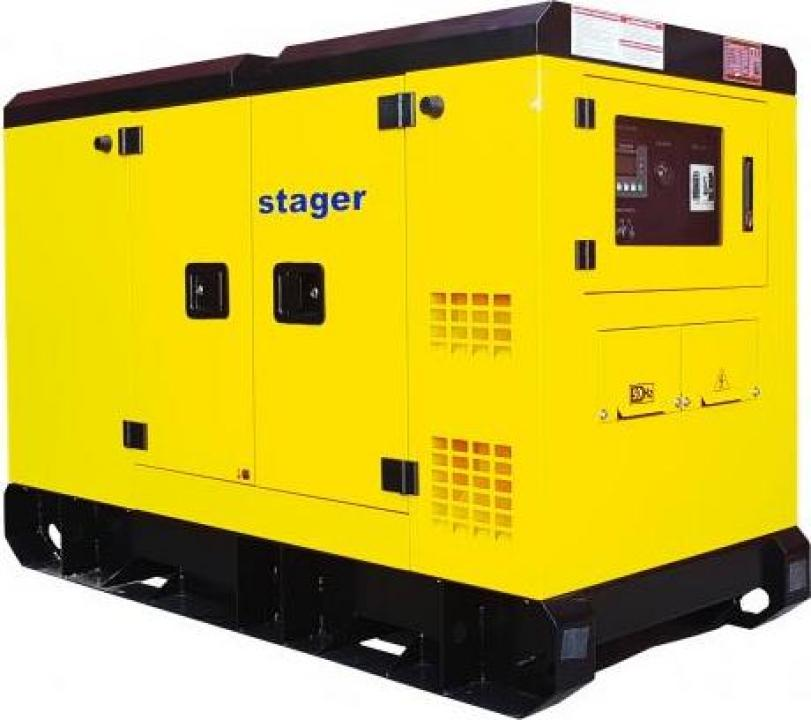 Generator silent Stager YDY220S3, diesel, 220kVA