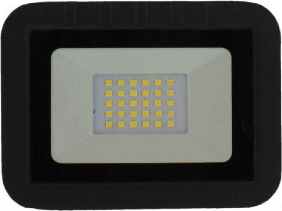 Proiector LED 20W 1600lm IP65 4000K negru Well