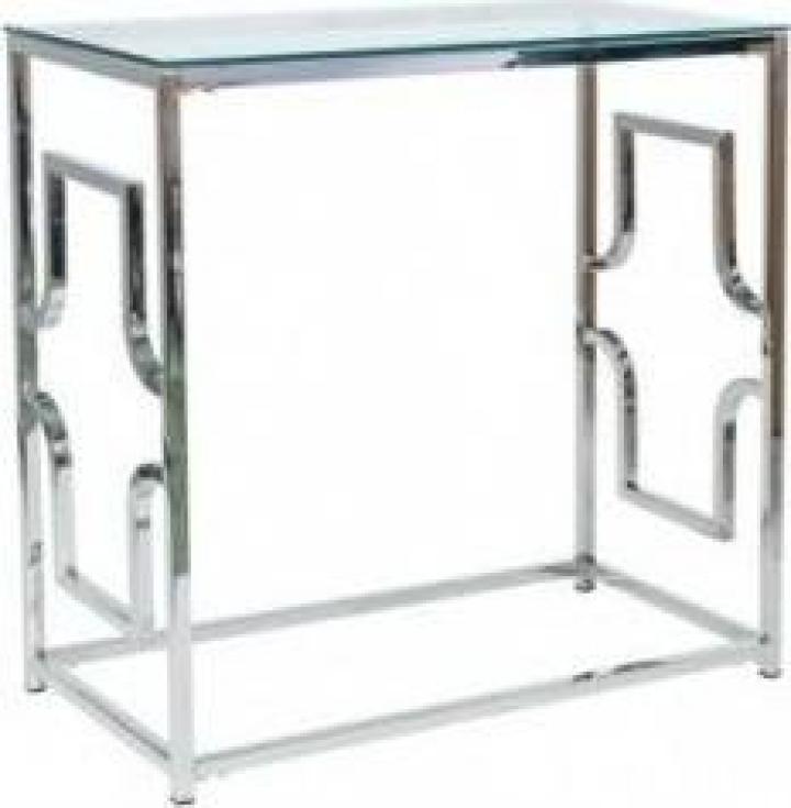Consola, blat de sticla/cadru de metal Versace C
